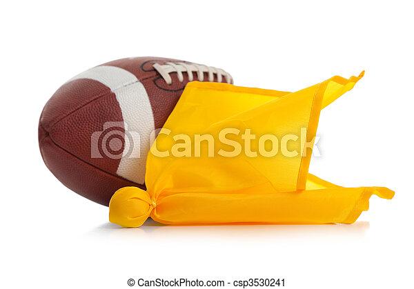Football Flags Penalty Football And Penalty Flag on