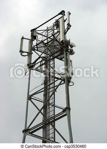 Communication tower with phone antennas - csp3530460