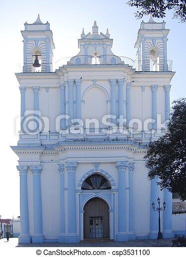 blue church San Cristobal de las Casas Chiapas - csp3531100