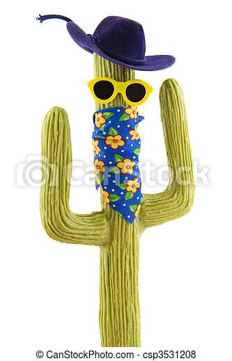 Funny wild west cactus - csp3531208