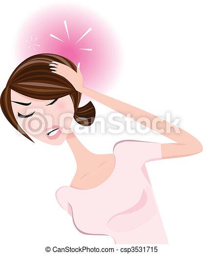 Woman with headache - csp3531715