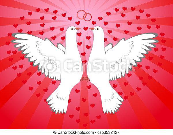 pigeons, heart - csp3532427