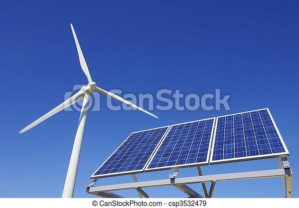 Energie, erneuerbar - csp3532479