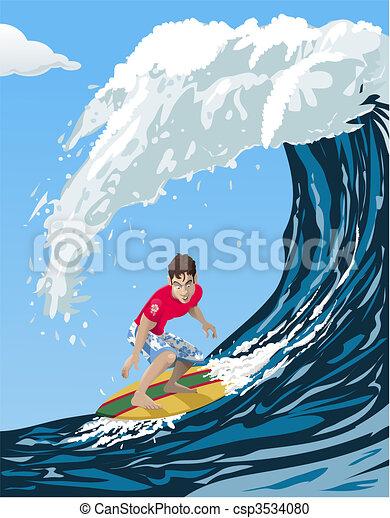 Big wave surfer - csp3534080