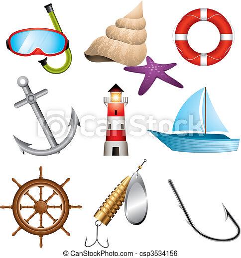 Sea icons - csp3534156