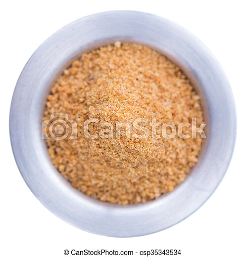 Coconut Sugar isolated on white - csp35343534