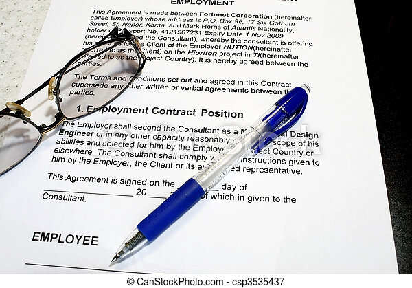 Employment Contract - csp3535437