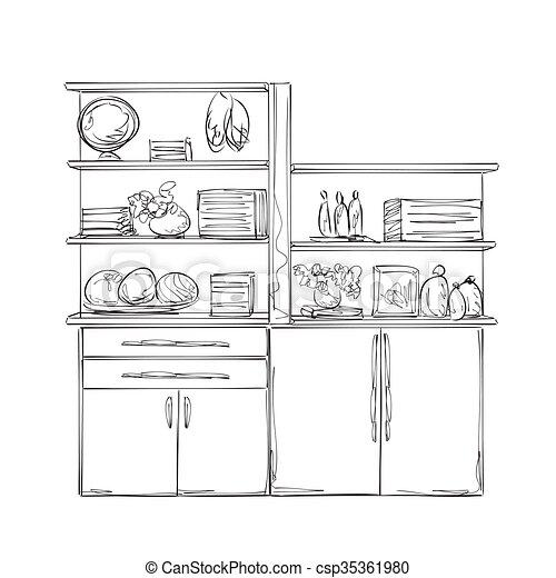 Dibujos de muebles de cocina detalles de fabricacin de for Dibujos de muebles