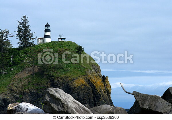 Rocky View of Cape Disappointment - csp3536300
