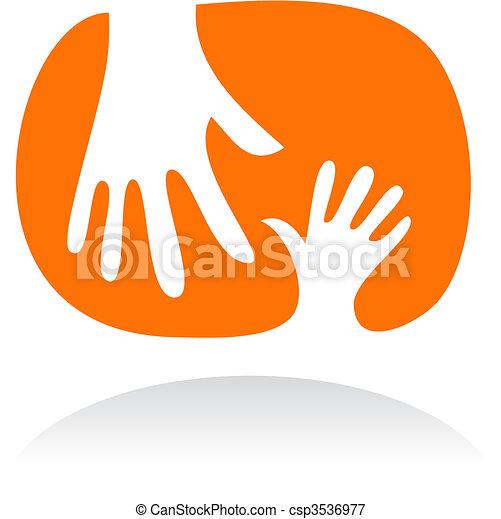 Motherhood icon - 3 - csp3536977