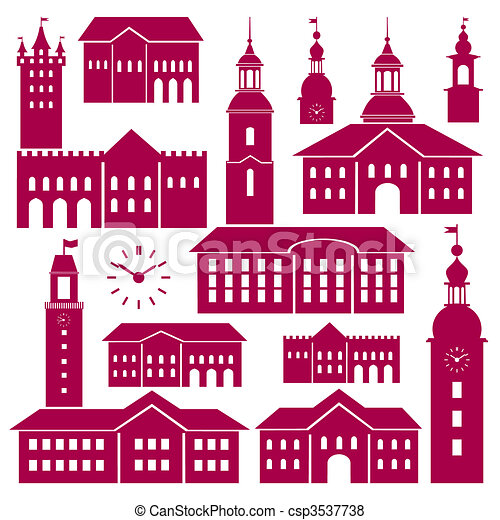 Vector old town elements - csp3537738
