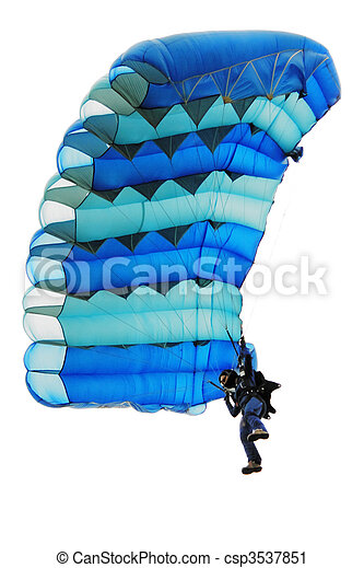 The girl under a parachute - csp3537851