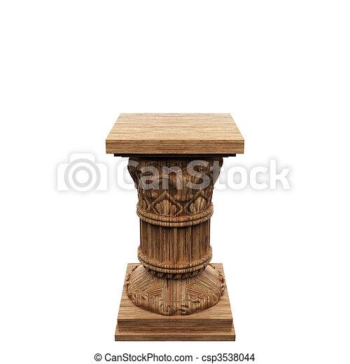 madeira, coluna - csp3538044