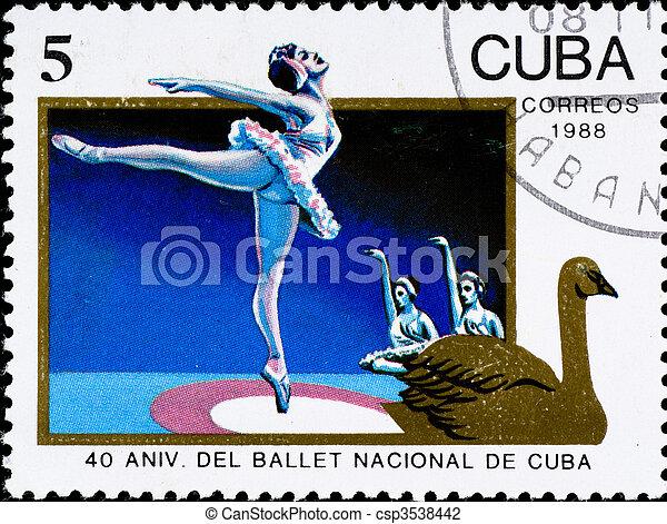 postage stamp celebration cuban ballet anniversary