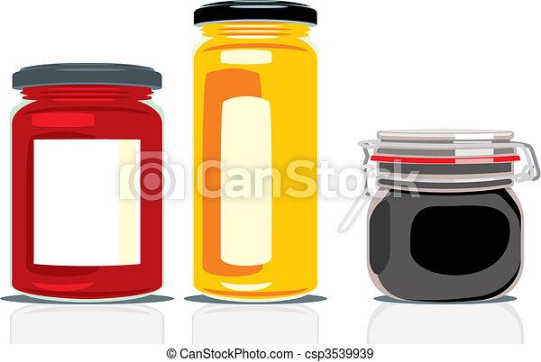 classic shape jam jars  - csp3539939