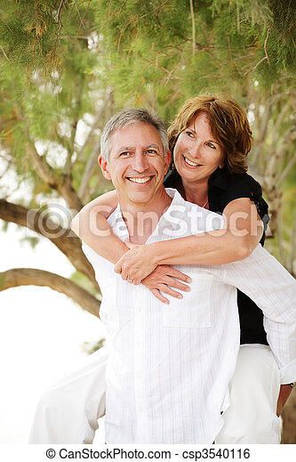 Beautiful mature couple having fun - csp3540116
