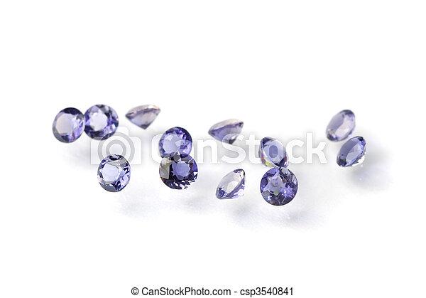 Faceted iolites - csp3540841