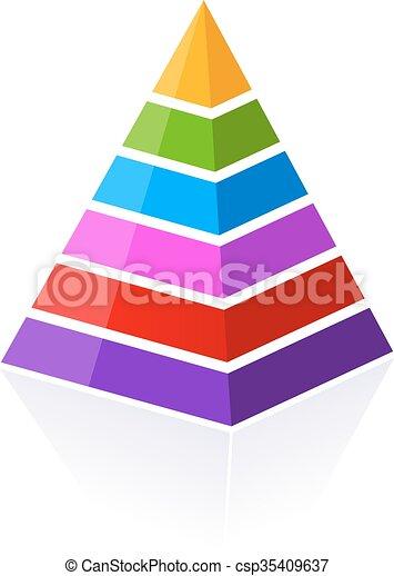 6 part pyramid - csp35409637
