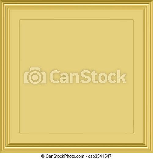 gold plaque - csp3541547