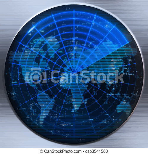 world map radar or sonar - csp3541580
