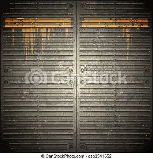 grunge metal wall background - csp3541652