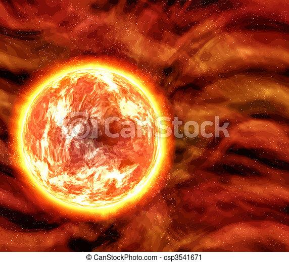 Vector Clip Art de planeta sol o lava  grande imagen de un