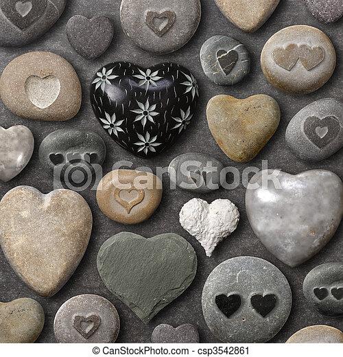 stock fotografie von steine herz geformt steinen hintergrund von csp3542861 suchen. Black Bedroom Furniture Sets. Home Design Ideas
