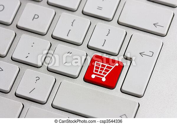 knapp, shoppa för försäljning i minut - csp3544336