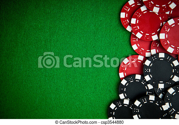 Casino gambling chips with copy space - csp3544880
