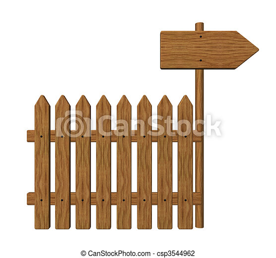 Clip art de poteau indicateur jardin barri re bois for Barriere jardin bois
