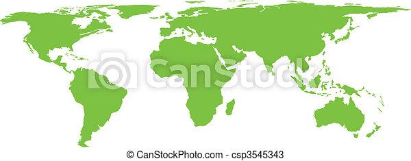 Vector world map stylization - csp3545343