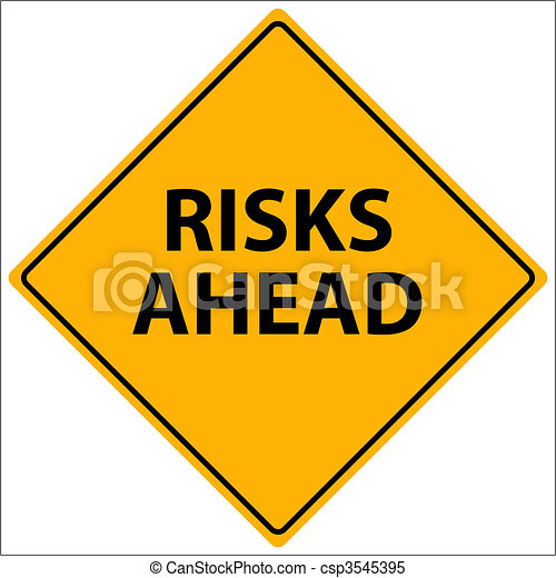 Risks Ahead Vector - csp3545395