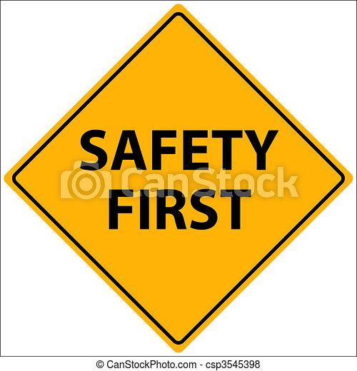 Safety First Illustration - csp3545398