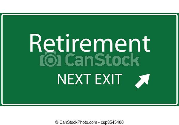 Retirement Vector - csp3545408