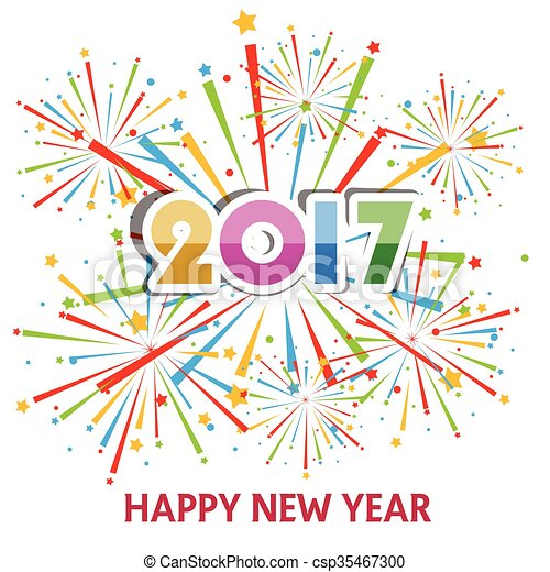 Happy new year 2017 Illustrations and Stock Art. 18,295 Happy new ...