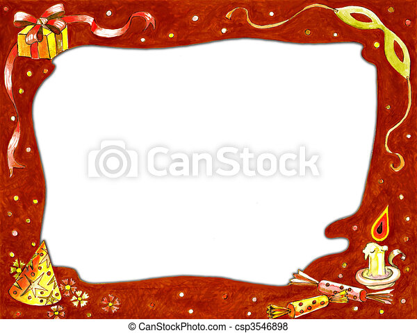 Stock image of Christmas Frame - csp3546898