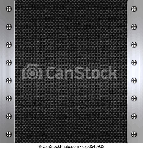 carbon fibre and steel background - csp3546982