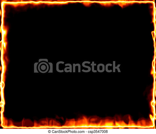 fire burning frame - csp3547008