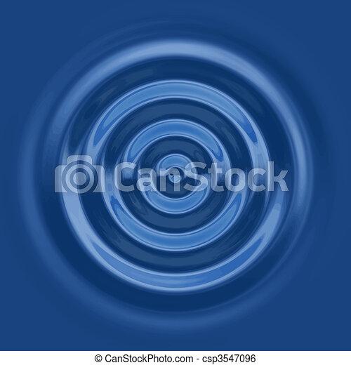 top down water ripple - csp3547096