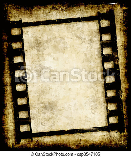 grungy film strip or photo negative - csp3547105