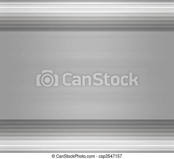 metal steel or aluminium plate - csp3547157