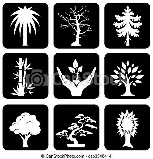 trees icons - csp3548414