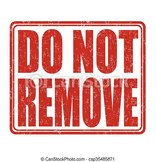 Vector Clipart of Do not remove - Stamp with text do not remove ...