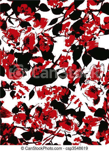 floral background texture - csp3548619