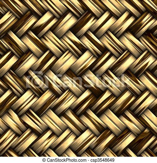 woven wicker basket - csp3548649