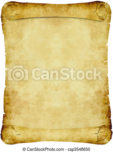 vintage parchment paper scroll - csp3548650