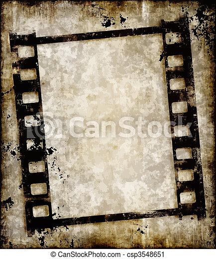 grungy film strip or photo negative - csp3548651