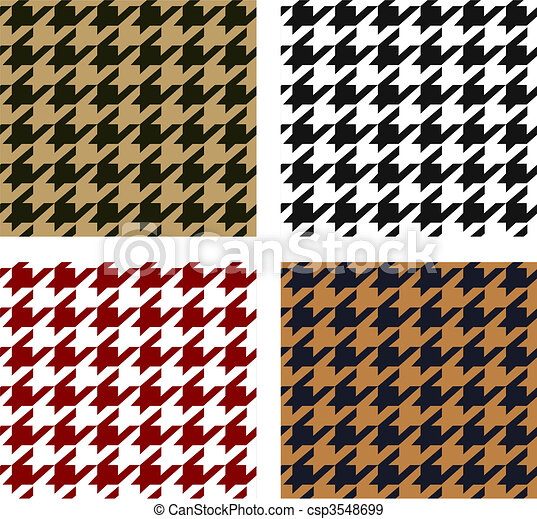 seamless houndstooth pattern - csp3548699