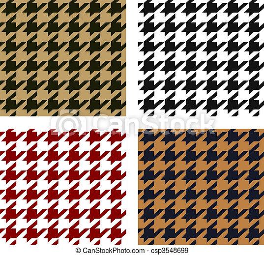 seamless houndstooth pattern - csp3548699