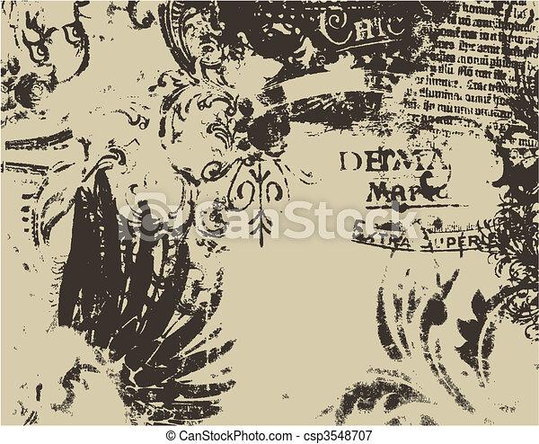 distressed medieval art - csp3548707